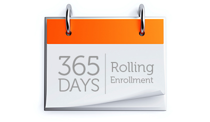 365 Days Rolling Enrollment
