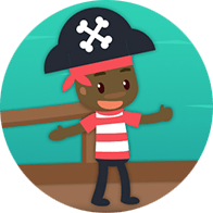 Icon of child pirate