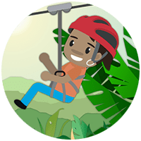 Icon of child zip lining